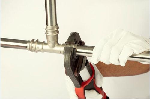 stainless plumbing pipe